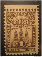 Kobenhavn 1 Ore Telegramme Telegram By Post By Og Hus Telegraf Local Poster Stamp Label Vignette Viñeta Denmark - Emissions Locales