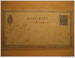 2 Sk Brev-kort Brevkort Postal Stationery Card Entier Postaux Carte Postale Denmark - Entiers Postaux