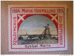 Minde Udstilling Koldinghus Dybbol Molle Mill 1914 WW1 WWI Denmark Poster Stamp Label Vignette Viñeta - Autres