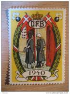 DFB Militar 1940 WW2 WWII Soldier Denmark Poster Stamp Label Vignette Viñeta - Autres