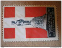 Kobenhavn Militar 1914 WW1 WWI Soldier Denmark Poster Stamp Label Vignette Viñeta - Autres