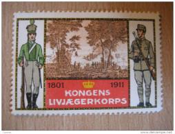 Militar 1914 WW1 WWI Soldier Denmark Poster Stamp Label Vignette Viñeta - Autres