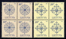 LITHUANIA 2003 Definitive 10c, 20c Dated 2003, Blocks Of 4 MNH / **.  Michel 717-18 C III - Lithuania
