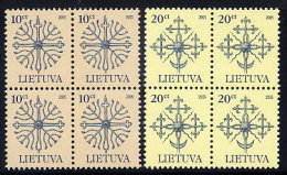 LITHUANIA 2005 Definitive 10c. 20c. Dated 2005 Blocks Of 4 MNH / ** Michel 889-90 I - Lithuania