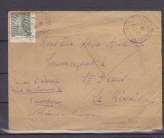 FRANCE 131 COIN DE CARNET SEUL SRU LETTRE POUR LA REUNION RETOUR A L'ENVOYEUR - 1903-60 Semeuse A Righe