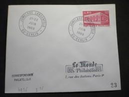 Jumelage Langenfeld 21-22/06/1969 Senlis - Postmark Collection (Covers)