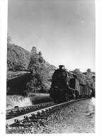 LOCOMOTIVE A VAPEUR Photographie Format Cpa Machine Train De Marchandises  Gros Plan - Matériel