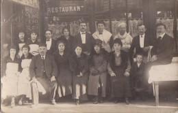 Commerce - Bistrot Restaurant - Carte-Photo -  Employés Serveur Cuisinier -A Situer - Restaurants