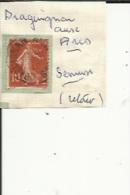 1 Timbre _Tampon Convoyeur - _Draguignan--aux--Arcs_Semeuse 10 Cts _Retour - Poststempel (Einzelmarken)