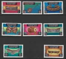 """Khmere YT 347 à 354 """" Instruments De Musique """" 1975 Neuf ** - Cambodia"""