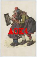 Hessische Trachten Künstlerkarte 29 Kinder Feldpost 688 Armee Funker Abteilung A.O.K. 7 - Costumes