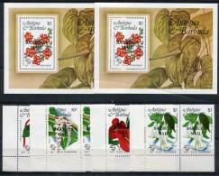 1984-BARBUDA-U.P.U. FLOWERS-LOT 2 SETS+2 S.S.M.N.H. LUXE !! - Antigua And Barbuda (1981-...)