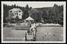 [010] Klopeinersee, Strandbad 'Amerika', Dat. 1951, Bez. Völkermarkt, Verlag Schilcher (Klagenfurt) - Klopeinersee-Orte