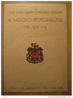 1938 Miskolci Belyegkiallitas Imperforated Block Poster Stamp Label Vignette Viñeta Cinderella YUGOSLAVIA - Yugoslavia