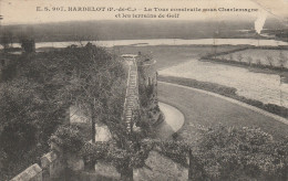 Dép. 62 - Hardelot - La Tour Construite Sous Charlemagne Et Les Terrains De Golf. E. S. 907 - Autres Communes