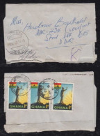 Ghana 1966 Wrapper Missent To JAPAN The To Germany - Ghana (1957-...)