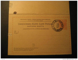 BOSNIA And HERZEGOVINA Kalinovik K Und K Militar Post KuK Double Stationery Card Bosnie Herzegovine Yugoslavia - Bosnie-Herzegovine