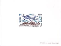 Miquelon Avion Piper Tomahawk - Non Dentelés, épreuves & Variétés