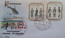 BUSTA PRIMO GIORNO GUARDIA DI FINANZA 200 ANNI TORINO 1974 - Unclassified