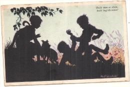RARE Ombres Chinoises - Illustrateur - Roif WINKIE -  Bald War Er Oben - Enfants Chien - écrite TB - Autres Illustrateurs