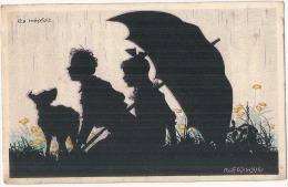 RARE Ombres Chinoises - Illustrateur - Rolf WINKIE -  Es Tropfet - Enfants Chien - écrite TB - Autres Illustrateurs