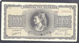 1000 Drachmai Griechenland 21.8.1942 - Monete & Banconote