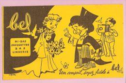 Buvard : Belle Photo Du Mariage (signé Guion ) :Bel Mi Bas Socquettes - Cinéma & Théatre
