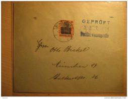 ROMANIA GERMANY OCCUPATION Bucharest 1918 To Munchen Gepruft Cancel Militar Militaire Overprinted Stamp WW1 Cover - Cartas De La Primera Guerra Mundial