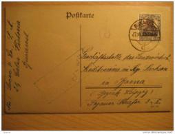 ROMANIA GERMANY OCCUPATION Bucharest 1918 To Borna Leipzig Cancel Gepruft Militar Militaire MVR Overprinted Stamp WW1 - Cartas De La Primera Guerra Mundial