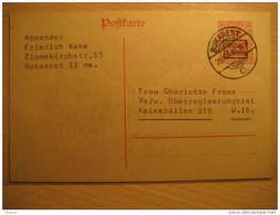 ROMANIA GERMANY OCCUPATION Bucharest 1918 Gultig 9 Armee Overprinted Stationery Cancel Militar Militaire WW1 - Cartas De La Primera Guerra Mundial