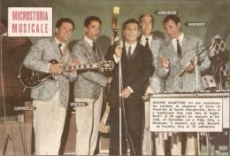 """MAN--0002-- """" MICROSTORIA  MUSICALE"""" -BRUNO MARTINO- TAVOLA FUORI TESTO ALLEGATO ALL´INTREPIDO   N. 39  Il 26-9-61 - Manifesti & Poster"""