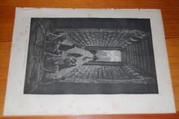 Espagne, Citerne Antique (romaine) à Merida, Estrémadure, Gravure De 1868, Gustave Doré - Vieux Papiers