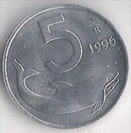 REPUBBLICA ITALIANA 5 Lire 1996 FDC - 1946-… : Repubblica
