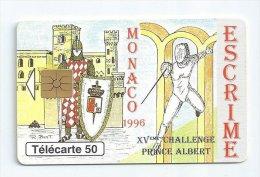 Télécarte Monaco - Phonecote MF40 - Escrime Fencing - Monaco