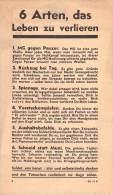 WWII WW2 Propaganda Tract Leaflet Flugblatt ZG.91K, 6 Arten, Das Leben Zu Verlieren, FREE SHIPPING WORLDWIDE - Vieux Papiers