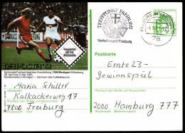 Germany Freiburg 1981 / Football / Philatelic Exhibition NAPOSTA ´81 / Neckarstadion Stuttgart / Postal Stationery - Calcio