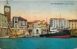 CIVITAVECCHIA. PORTA LIVORNO VISTA DAL PORTICCIOLO. CARTOLINA VIAGGIATA 1933 - Civitavecchia