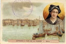 29 ILE De SEIN Image 7x10.5 Cm Littoral Et Iles De La France  PORT Et COIFFE - Ile De Sein