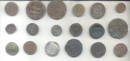 LOTE DE 18 MONEDAS MUY ANTIGUAS - VERY OLD COINS - TO INVESTIGATE - PARA INVESTIGAR RARAS PIEZAS RARES - Lots