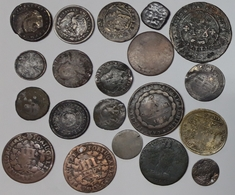 LOTE DE 20 MONEDAS MUY ANTIGUAS - VERY OLD COINS - TO INVESTIGATE - PARA INVESTIGAR RARAS PIEZAS RARES - Antique