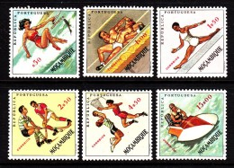 Mozambique MH Scott #424-#429 Set Of 6 Sports: Water Skiing, Wrestling, Gymnastics, Field Hockey, Basketball, Boating - Mozambique