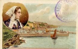 56 BELLE ILE Image 7x10.5 Cm Port Et Coiffe - Belle Ile En Mer