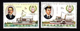 Mozambique MNH Scott #478-#479 Set Of 2 Navy Club Centenary - Mozambique