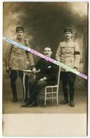 CARTE PHOTO / 53e RI ( PERPIGNAN ) / OFFICIERS / 1919 - 1920 / ADMINISTRATION SERVICE SANTE / 53e REGIMENT D' INFANTERIE - Guerre, Militaire