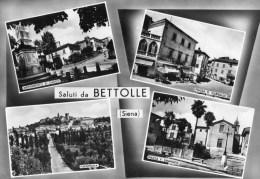 Saluti Da Bettolle (Siena) - Monumento Ai Caduti - Piazza G.Garibaldi - Panorama - Piazza Vittorio Emanuele - Italia