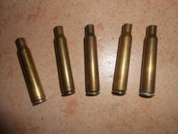 Lot De 5 Douilles RWS  - 7x64  (laiton) - Armes Neutralisées
