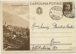 """LANV3/3 - ITALIE EP CP OPERE DEL REGIME 30c """"ANVERSA DEGLI ABRUZZI """" POSITANO / ROMA 18/6/1936 - Stamped Stationery"""