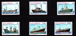 Mozambique MNH Scott #782-#787 Set Of 6 Ships: Tanker, Tugboat, Trawler, Freighter, Ocean Freighter, Dredger - Mozambique