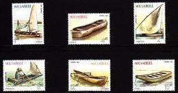 Mozambique MNH Scott #836-#841 Set Of 6 Boats: Caique, Machua, Calaua, Chitatarro, Cangaia, Chata - Mozambique