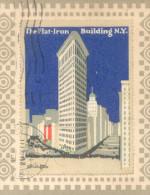 FLAT-IRON FLATIRON BUILDING NEW YORK MAXIMUM CARD CIRCULEE 1917 A STEINHAUSER TOP COLLECTION VIGNETTE LABEL CINDERELLA - Fantasie Vignetten